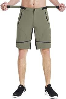 EZRUN Men's Mountain Bike Shorts Quick Dry Lightweight Water-Resistant Cycling MTB Shorts UPF 50+