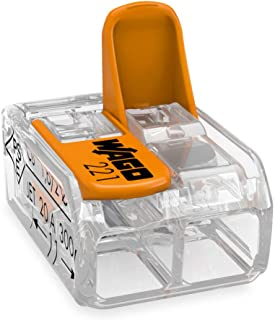 Mini-borne à levier universelle Wago - 2 conducteurs - Vendu par 100