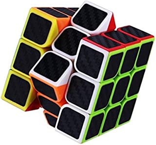 Emob® High Speed Carbon Fiber Sticker 3x3 Neon Colors Smooth Puzzle Toy