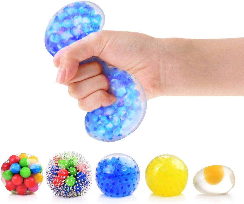 Rekidm Stress High quality new Balls for Max 64% OFF Kids 5 Squishy Pack Sensory Toys