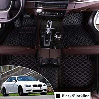 Complete Set Custom Floor Mat for BMW M3 E92 2009-2013 Coupe Full Protection Car Accessories Black 3 Piece Set