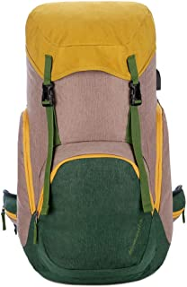 Rjj Wearable Shoulder Bag Outdoor Large Capacity Mountaineering Bag Travel Backpack Men and Women Couples Package Exquisite (Color : Yellow)