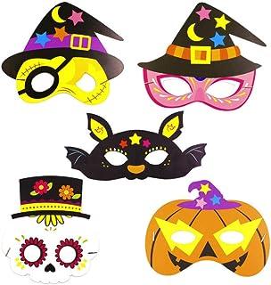 Máscaras de Halloween del Pirata 5pcs Corona de Papel Papel de diseño de Calabaza Máscaras Máscaras de Halloween para niños Disfraces Accesorio del Partido
