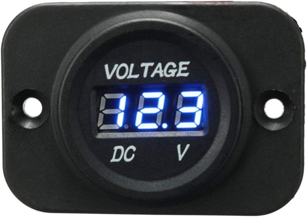 WZhen 12V-24V Impermeable Led Voltio Medidor De Voltaje Para Motos Barco Marino - Verde