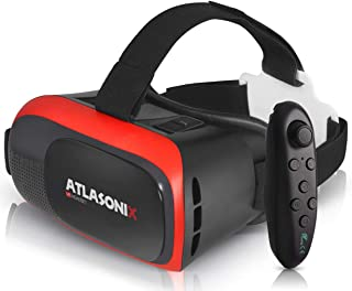 VR Headset with Controller for Android Phones - Virtual Reality Goggles | Comfortable & Adjustable VR Glasses w/Remote Control | Play Your Best VR Games & 3D Videos | Unique Gift for Kids and Adults