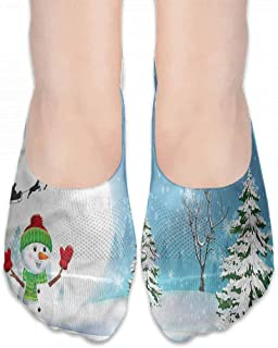 Boat Socks Christmas,Happy New Year Party,socks women low cut no show