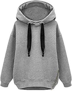 Inlefen Women Hooded Sweatshirt Autumn Winter Warm Fashion Casual Sports Shirt Long Sleeve Warm Woman Pullover Sweater Coa...
