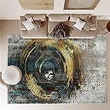 Alfombra Escritorio Durable Diseño Abstracto del Círculo...