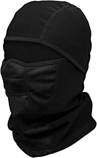 ILM Balaclava Face Mask Suits Cold Weather Windproof Ski Mask Winter Motorcycle Helmet Liner Snowboard Neck Warmer Tactical Hood Fits Women Men (Black)