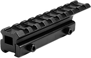"360 Tactical .22/Airgun 3/8"" Dovetail to 7/8"" Weaver Picatinny Rail See-Through Adapter Mount High Profile 9 Slots"