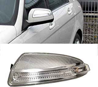 Ricoy For MERCEDES W204 C Class C250 C300 C350 C63 Door Wing Mirror Housing Turn Signal Indicator Side LED Light Blub (Left)