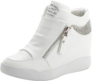 rismart Donna Zeppa Piattaforma Bootie Elegante Sneaker Scarpe