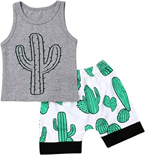 Toddler Baby Boys 4th of July Shorts Set Sleeveless Vest Top Shirts American Flag Pants Outfits Clothes - Grey - 18-24 Months