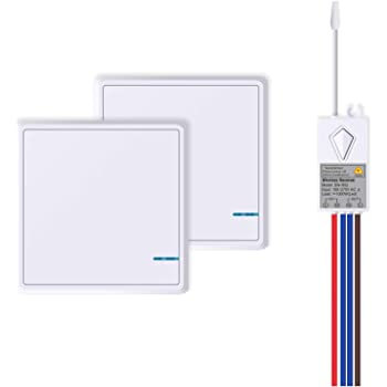 Acegoo Wireless Lights Switch Kit No Wiring No Battery Quick Create Or Relocate On Off Switches For Lights Lamps Fans Appliances Self Powered Remote Control Switch For House Lighting Avoid Chasing Wall For Cables