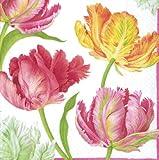 Caspari - Tovagliolo di Carta, Decoro Tulip Dance, Multicolore