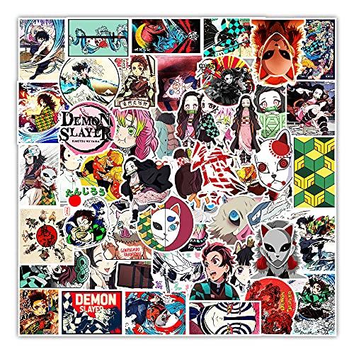STKCST Dibujos Animados de Anime Demon Slayer Doodle Paquete de Pegatinas de Bricolaje Cuaderno Creativo Pegatina Calcomanía Decoración Maleta Pegatinas Impermeable Colorido Lindo Vinilo estético