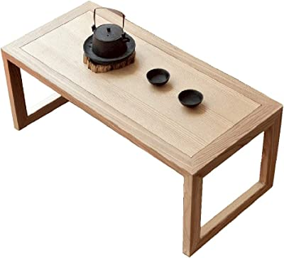 Coffee Table Japanese Tatami Small Table Simple Bay Window Small Coffee Table Balcony Small Tea Table Solid Wood Japanese Small Coffee Table (Size : 70x38x33cm)