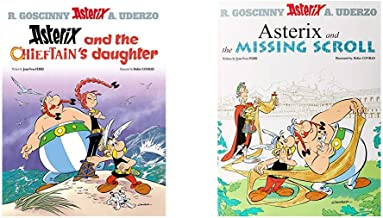 Asterix And The Chieftain'S Daughter: Album 38 + Asterix And The Missing Scroll: Album 36 (Set of 2 Books)