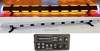 "56"" 86 LED Emergency Flashing Light Bar Warning Truck Tow Wrecker Strobe Amber/White - YanTech USA"