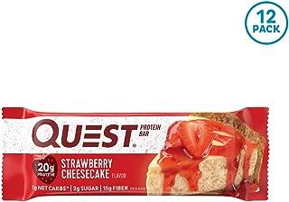 クエストニュートリション(Quest Nutrition) プロテインバー ストロベリーチーズケーキ (60g x 12本) [海外直送][並行輸入品]
