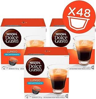 NESCAFÉ Dolce Gusto Coffee Capsules Lungo Decaffeinato 48 Single Serve Pods, (Makes 48 Cups) 48 Count