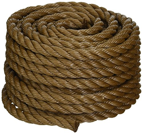 Koch 5011635 Twisted Polypropylene Rope, 1/2 by 50 Feet, Brown