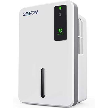 SEAVON 1500ml Dehumidifier for Home, 1200-2500 Cubic Feet (260 sq ft), Portable and Compact Quiet Dehumidifiers for Basements, Bathroom, Bedroom, RV, Closet - Auto Shut Off