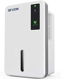 SEAVON 1500ml Dehumidifier for Home, 800-2300 Cubic Feet (256 sq ft), Portable and Compact Quiet Dehumidifiers for Basements, Bathroom, Bedroom, Closet, RV, Auto Shut Off