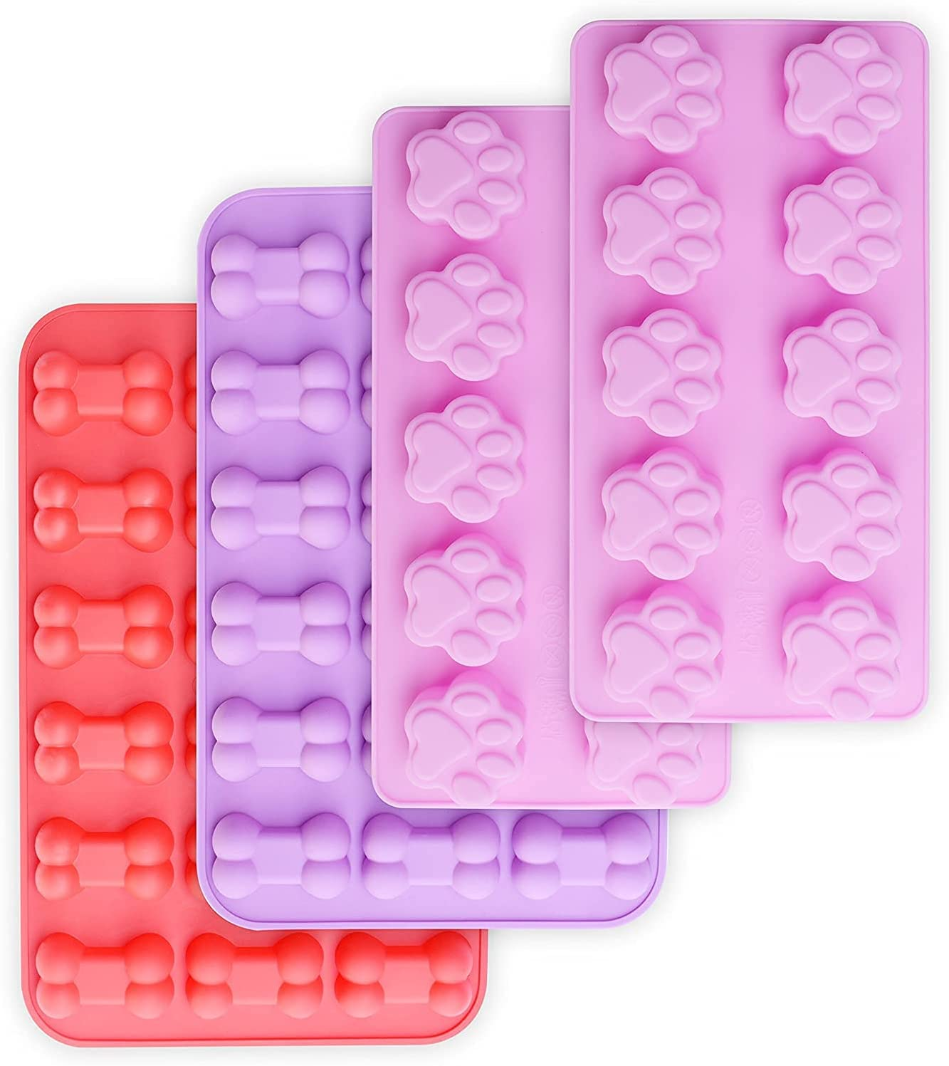 Cluo Puppy 2021 model Dog Paw and Our shop OFFers the best service Bone Non-Stick Food Grade Silicone Molds