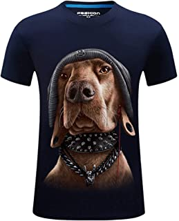 DADKA Men's Short Sleeve Summer Hip-hop Printed Casual Short Large Size CrewNeck T-shirt Tops