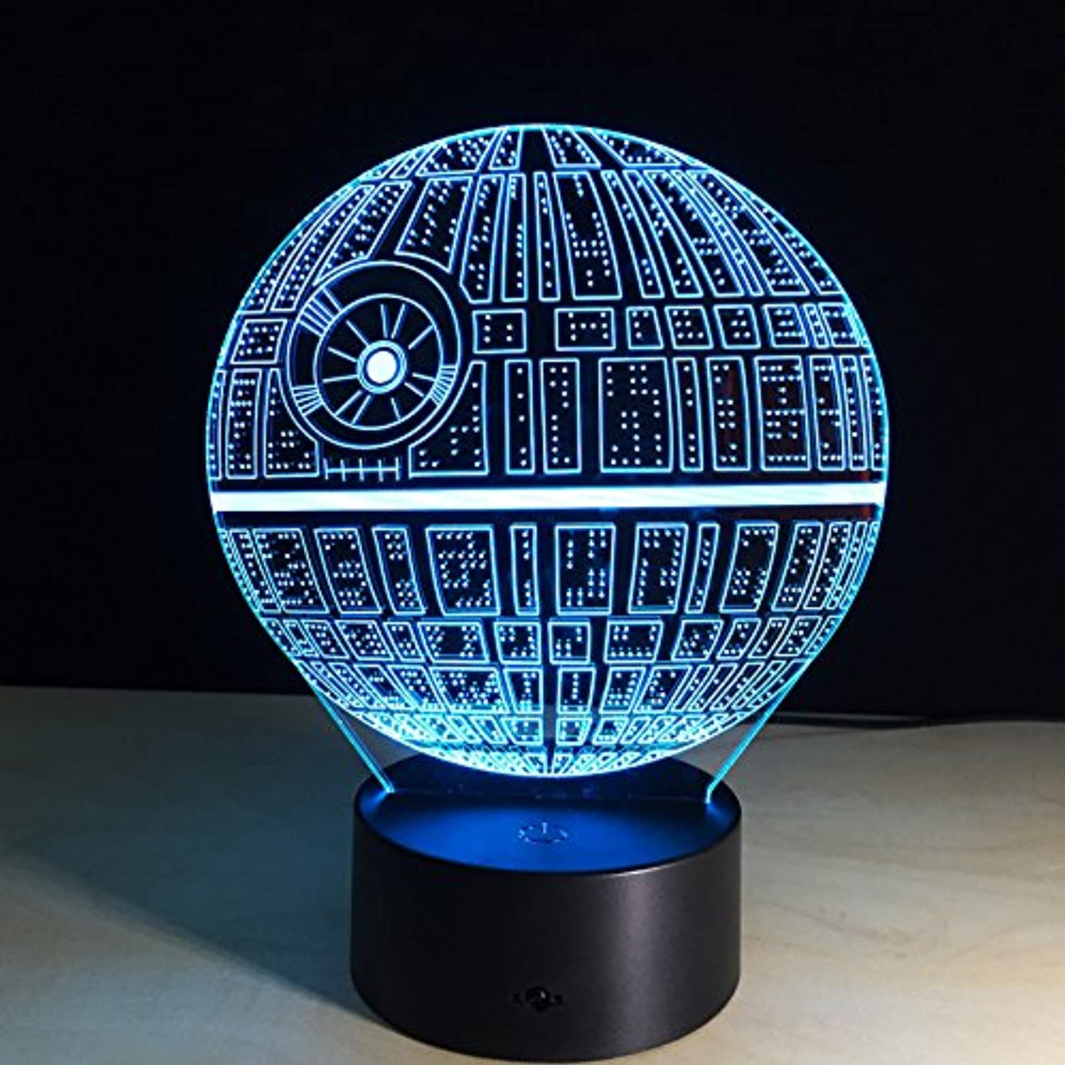 Y′s 3D DS-1(DS-1 Orbital Battle Station) Night Light Lamp