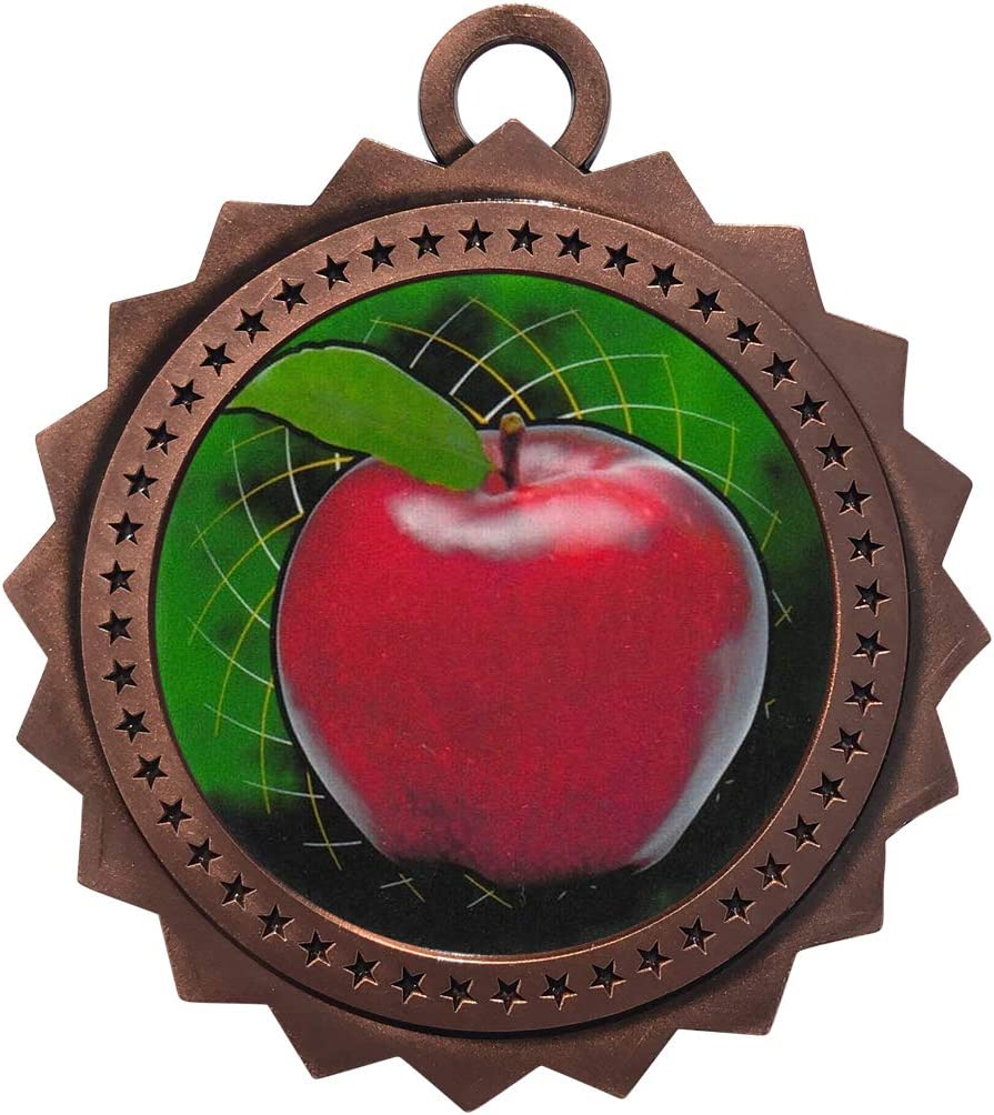 Super Special SALE held 1 to 50 Packs Scholastic Apple Ne Award with Trophy Popularity Bronze Medal