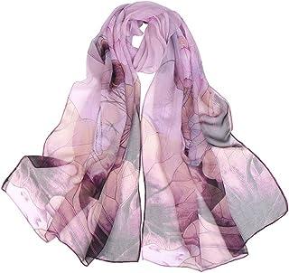 Neecan Scarfs for Women Lightweight Print Floral Pattern Scarf Shawl Fashion Scarves Sunscreen Shawls.