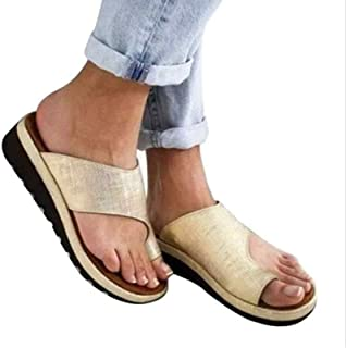 Aupast SandaleFemme Confortables pour Femmes, Sandales de Correction d'oignon,Ouvert Sandales pour Femmes d'été Tongs à B...