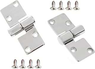 GooMeng 3.5 x 1.5 316 Stainless Steel Left & Right Lift-Off/Take-Apart Hinge Marine Boat Door Furniture Heavy Duty w/Screws (1 Pair)