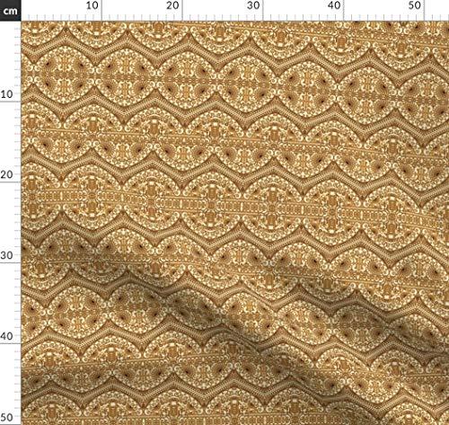 Arabeske, Bordüre, Ottomane Stoffe - Individuell Bedruckt von Spoonflower - Design von Dacascas Gedruckt auf Jeansstoff