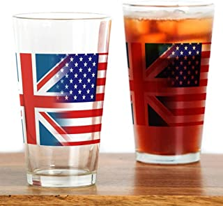 CafePress USA/UK Pint Glass, 16 oz. Drinking Glass