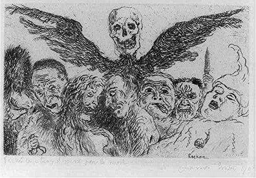 Foto: Péchés Capitaux dominés par la Mort, 1904, James Ensor, Les Peches Capitaux, caras