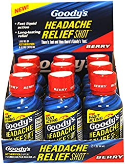 Goody's Headache Relief Shots | Berry Flavor | 9 Shots | 2 oz per Shot | Fast Liquid Action for Long Lasting Relief