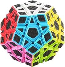 AI-YUN 3x3 Personality Magic Cube 12-face Carbon Fiber Sticker Megaminx