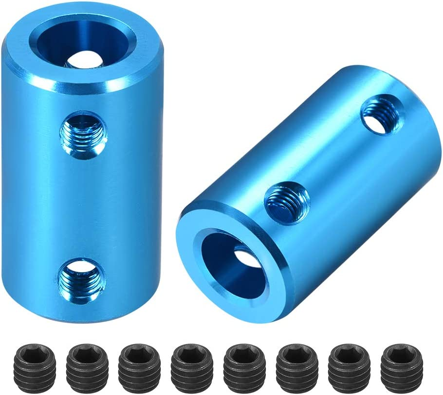 uxcell 8mm to 55% OFF Bore Rigid Set Coupling OFFicial site L25XD14 Aluminum Screw