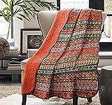 Vivilineneu Quilt Tagesdecke 100prozent Baumwolle Bettüberwurf Dünne Sommer Steppdecke Bettdecke (Rot, 230 x 250 cm)