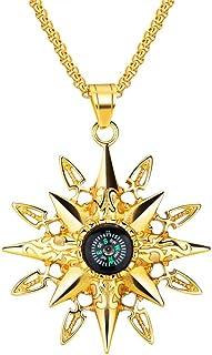 Travel Fashion compass Golden Locket Necklace jewelry Navigation news Locket Necklace clip-HZ00320 Direction antique compass Locket Necklace