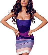 purple ombre bandage dress