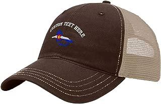 Custom Trucker Hat Richardson Colorado Flag Fishing Fly Embroidery Soft Mesh Cap