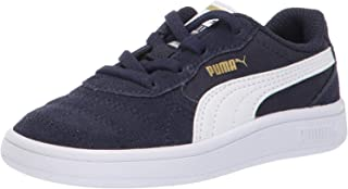 PUMA Baby Astro Kick Sneaker, peacoat-white-teamgold, 5 M US Toddler