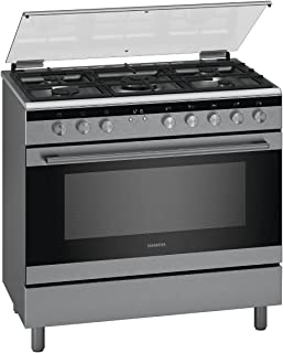 Siemens Freestanding Gas Cooker 90 x 60 cm, Silver, HG0K9VQ50M, 1 Year Warranty