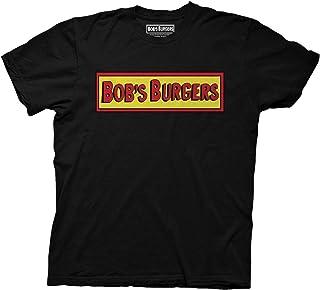 Ripple Junction Mens Bob's Burgers Logo T-Shirt - Bob's Burgers Mens Fashion Shirt - Bob, Tina & Louise Belcher
