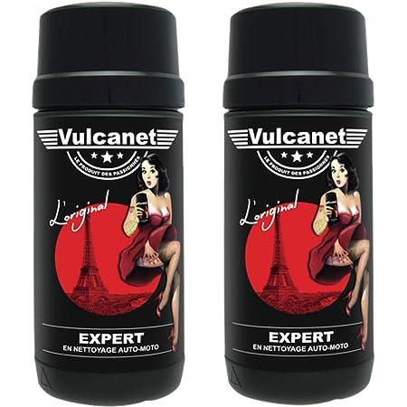 2 x Vulcanet Chiffons de Nettoyage Voiture Moto + Chiffon Microfibre (2) Chiffons Nettoyage Nettoyage Voiture Moto toutes les surfaces sans risque de rayures, sans eau, sans équipement