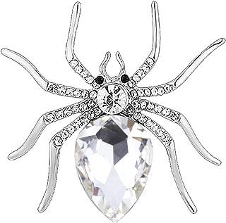 Broche Bijoux Fantaisie en Forme de Araign/ée Broche Bijoux D/écoration de V/êtements et /écharpe pour Homme et Femme Fablcrew
